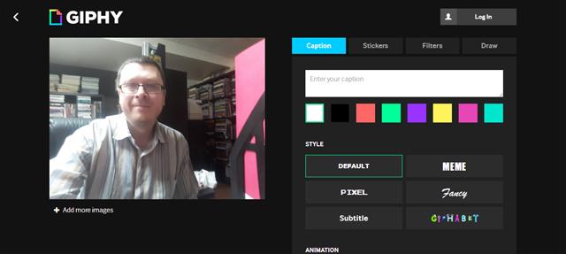 Ajouter des images à son GIF animé.